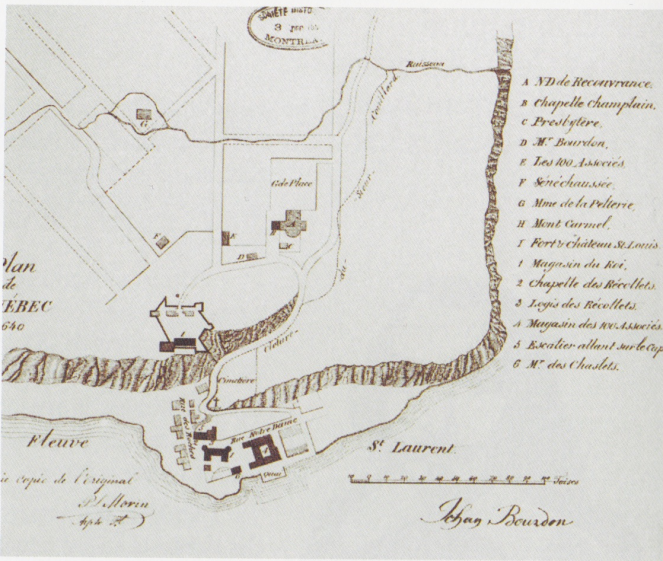 Plan_of_Quebec_City_by_Jean_Bourdon,_1640